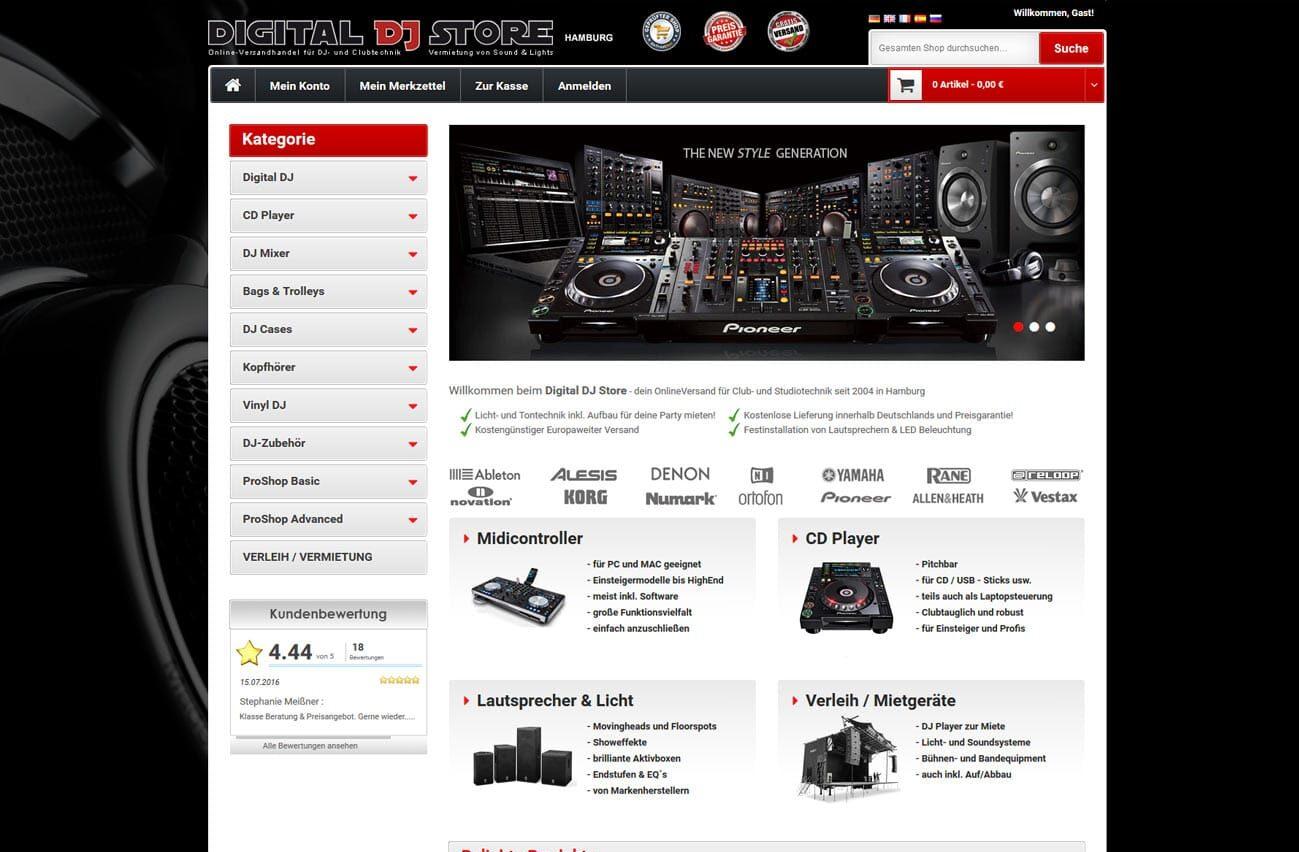 Homepage Onlineshop Ecommerce Agentur Hamburg