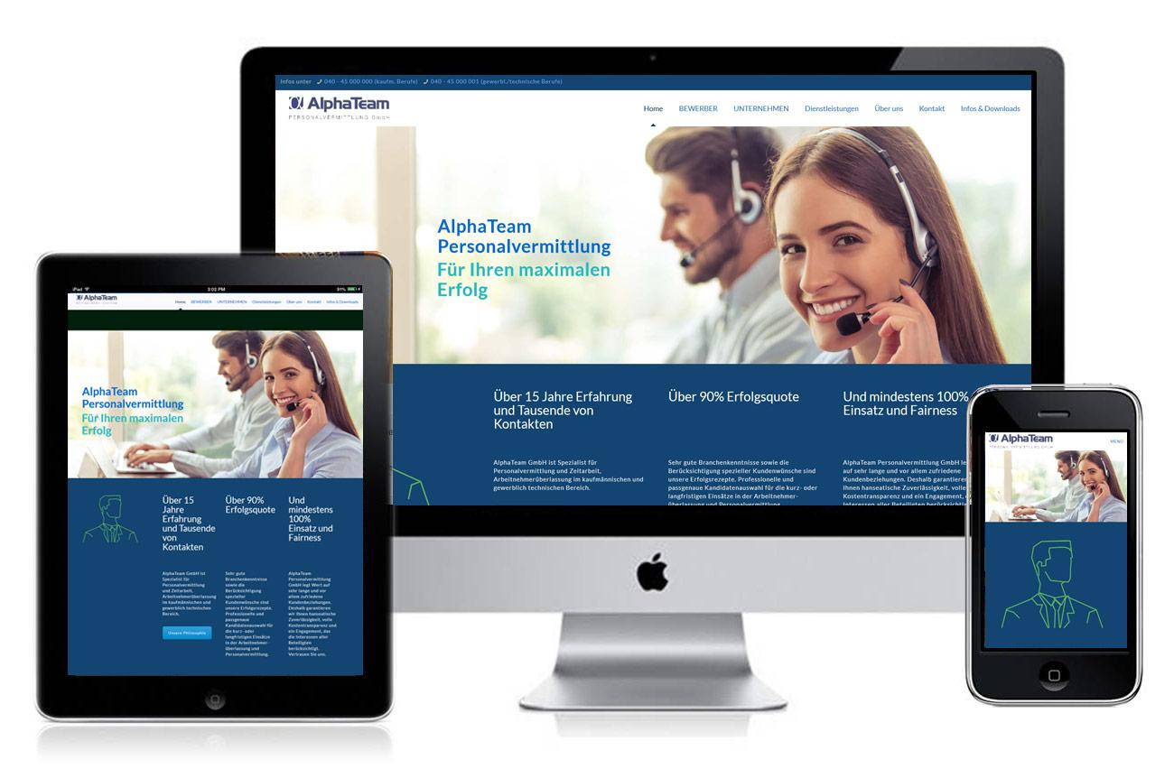 Homepage für Personalvermittlungen
